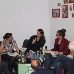 v.l. Verena Ströbele, Madeleine Prahs, Friederike Ehwald und viele interessierte Zuhörer