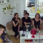 v.l. Gast, Friederike Ehwald, Dorothee Elmiger, Verena Ströbele